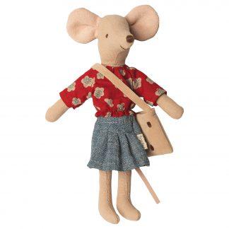 maileg moeder muis met tas