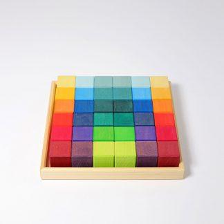 grimm's regenboog kleuren houten blokken