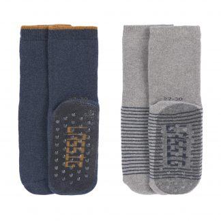 LÄSSIG anti-slip sokken blauw grijs