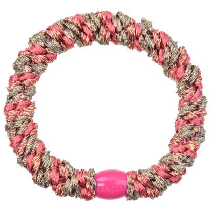 bondep kknekki haarelastiek Mix Rasberry Taupe glitter