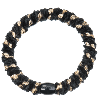 bondep kknekki haarelastiek Velvet stripe Black