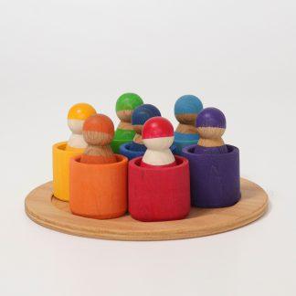 grimm's zeven vrienden in bakjes