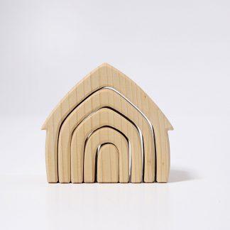 grimm's houten huisjes naturel