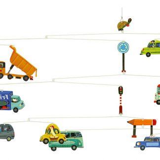 djeco mobile met auto's