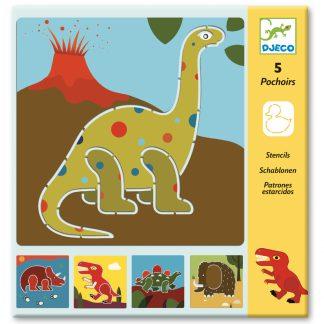 sjablonen djeco dinosaurussen