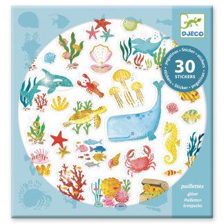 djeco glitter stickers onderwaterdroom