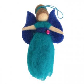 regenboog engeltje turquoise blauw