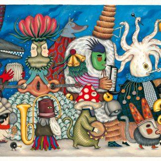 djeco puzzel fantasy orchestra 500 stukjes