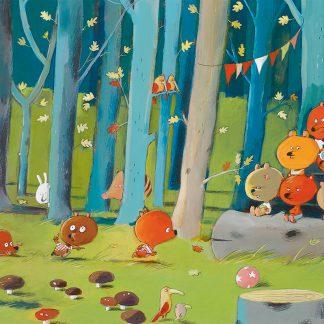djeco puzzel forest friends 100 stukjes