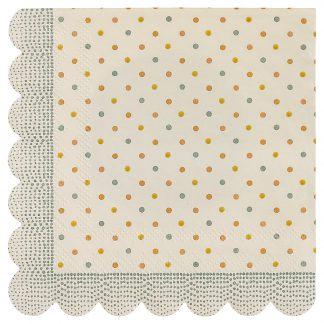 maileg servetten multi dots napkins