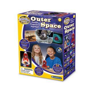 Outer space rocket projector en nightlight